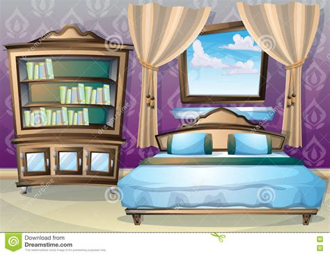 Cartoon Vector Illustration Interior Bedroom Stock Vector