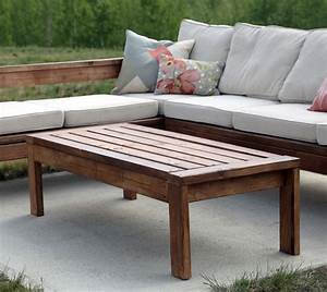 ana white 2x4 outdoor coffee table diy projects With easy to build coffee table