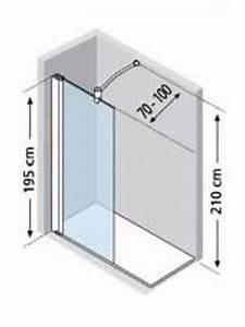 douche a l39italienne jeta paroi simple entree libre h195 With dimension douche à l italienne sans porte