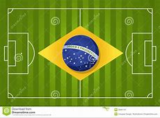 2014 Brazil soccer flag stock vector Image of silhouette
