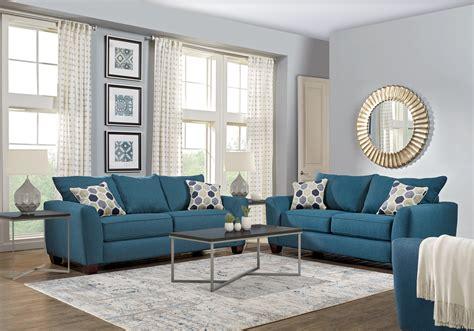 Bonita Springs Blue 7 Pc Living Room