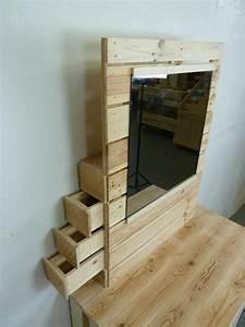 Schminktisch Aus Paletten : pallet dresser with side drawers pallet 39 s rock pinterest schminktische europalette und ~ Markanthonyermac.com Haus und Dekorationen