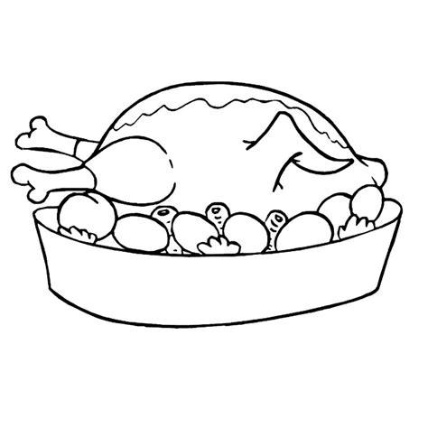 dessin de cuisine à imprimer coloriage plat poulet rôti petits légumes a imprimer gratuit