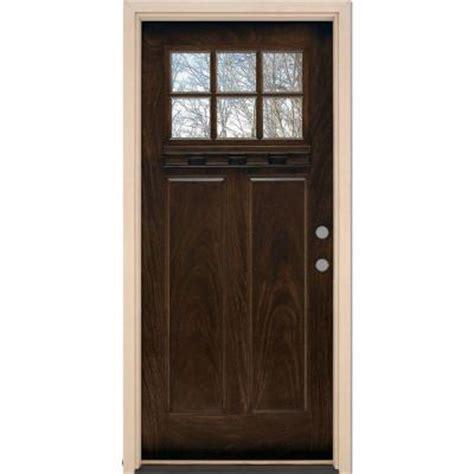 home depot craftsman door feather river doors 37 5 in x 81 625 in 6 lite craftsman