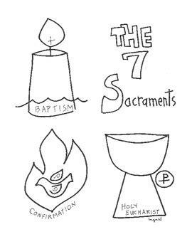 catholic  sacraments activity booklet  ingrids art tpt