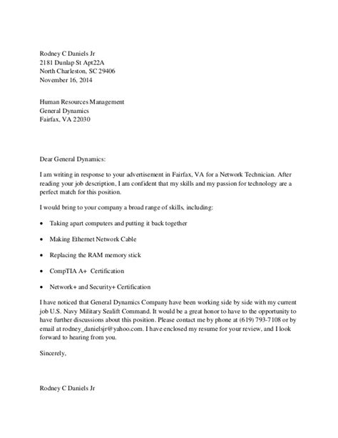 resume cover letter in response to technical position ad
