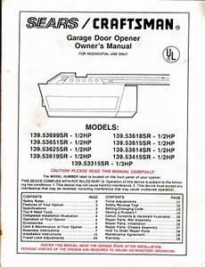 139 53425srt Wiring Diagram : craftsman garage door opener manualscraftsman garage door ~ A.2002-acura-tl-radio.info Haus und Dekorationen