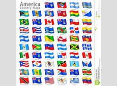 American Vector Waving Flag Set Stock Photo Image 37926910