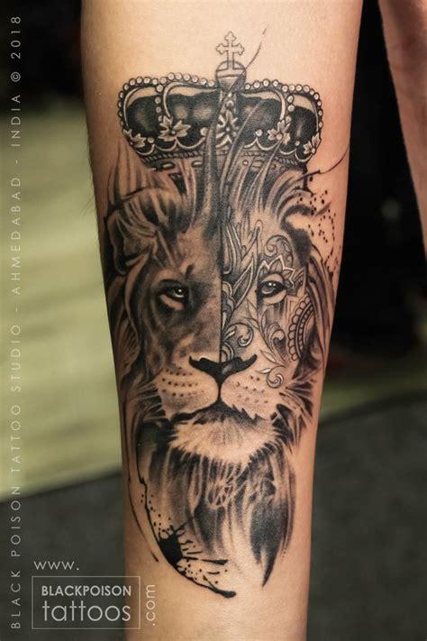 lion tattoo forearm tattoo black  grey tattoo