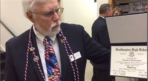 Vietnam Vet Gets Southington High Diploma 51 Years Later ...