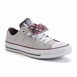 Converse Shoe Size Chart Inches Women 39 S Converse Chuck Taylor All Star Double Tongue Plaid