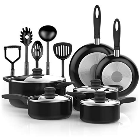 Kitchen Basics Pots And Pans by Vremi 15 Nonstick Cookware Set Kitchen Pots And