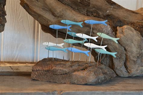 Shoal Of Fish On Driftwood   Chicy Rachael