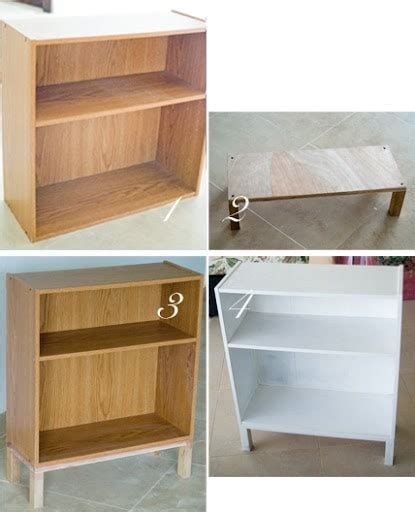 Cheap Bookcases by Refurbishing A Cheap Bookcase