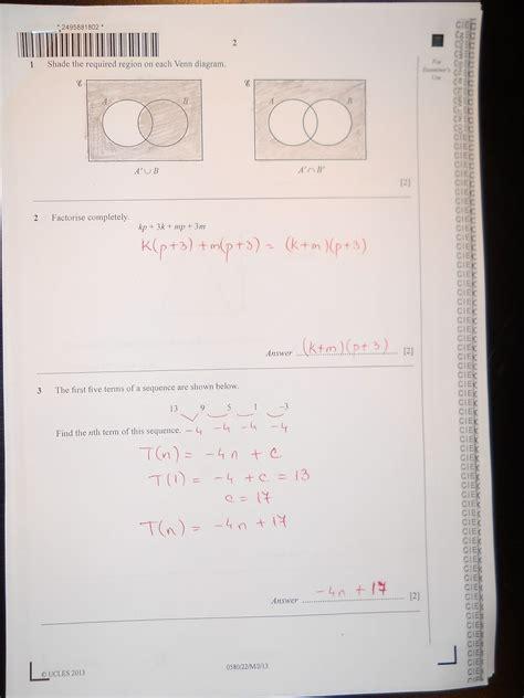 cie igcse  mathematics paper  extended mayjune