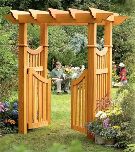 aw extra garden arbor woodworking projects american