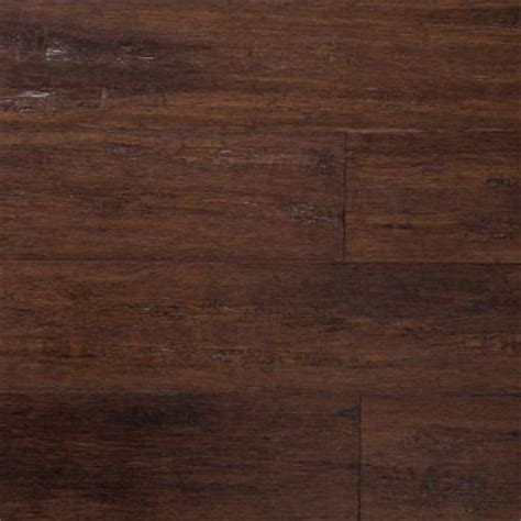 bamboo scraped flooring home decorators collection strand woven bamboo hand scraped brown 3 8 in x 5 1 8 in x 36 in