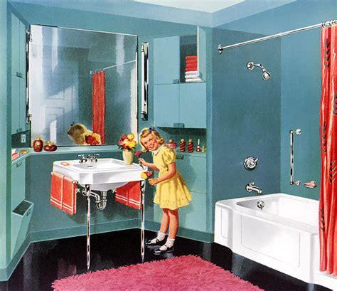 50s Retro Bathroom Decor by C Dianne Zweig Kitsch N Stuff Flashback 1950s Retro