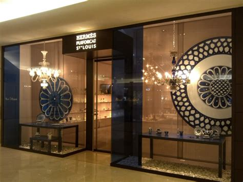 hermes puiforcat saint louis window display jakarta