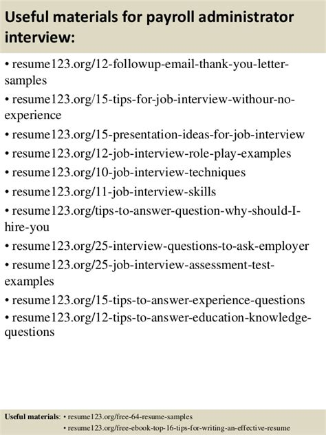 Payroll Administrator Resume Sles by Top 8 Payroll Administrator Resume Sles