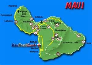 Kihei Maui Hawaii Map