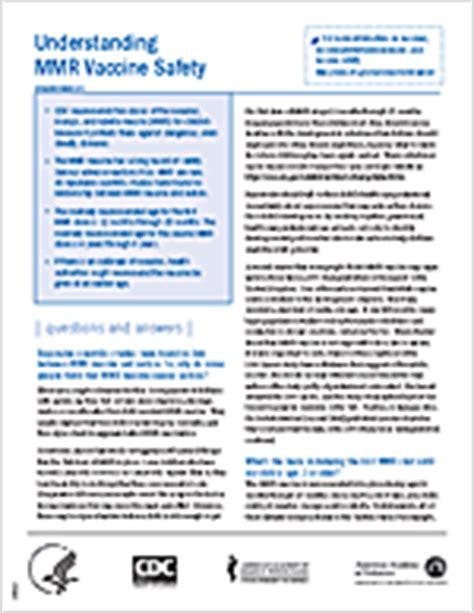 Measles, Mumps, Rubella (MMR) Vaccine | CDC