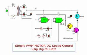 Simple Pwm Motor Control Circuit Using Ic 4011