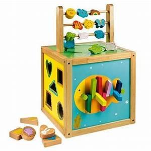 Cube En Bois Bébé : pour le jeu cube multijeux en bois ma liste de naissance ~ Dallasstarsshop.com Idées de Décoration