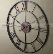 Wall Clocks Large by LARGE Metal Wrought Iron Hampton WALL CLOCK French Provincial Rustic Bronze NEW
