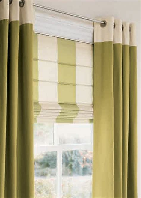 A Great Pairing Of Of Banded, Color Blocked Grommet Panels