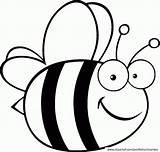 Coloring Honey Bees Bee Printable Beehive Popular sketch template