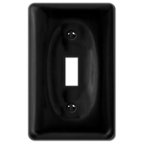 black porcelain toggle switchplate ceramic