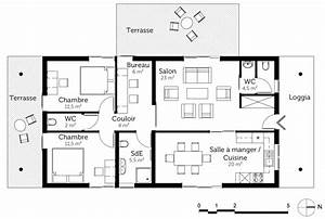 plan maison moderne a toit plat de plain pied ooreka With superb voir sa maison en 3d 2 plan maison en bois de plain pied ooreka