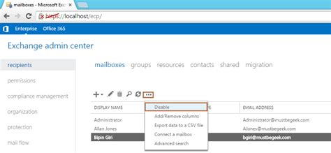 Office 365 Mail Forwarding Without Mailbox by Delete Mailbox Without Deleting User Account In Exchange