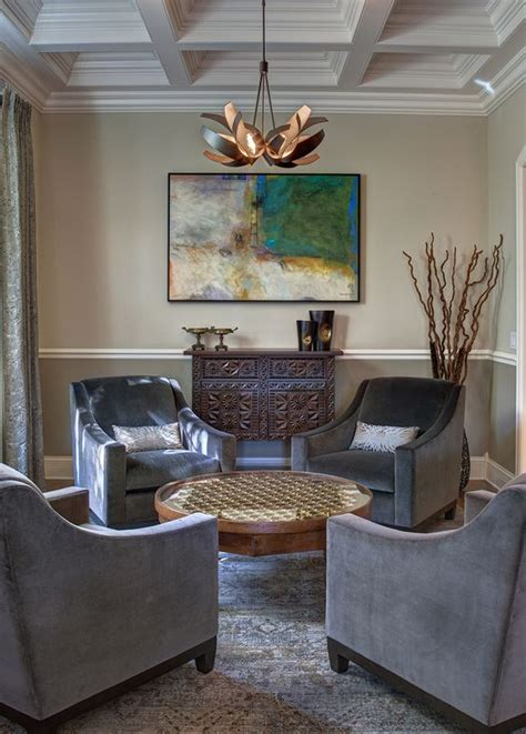 gray chairs and sophisticated living rooms on