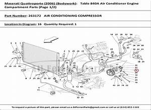 Ferrari Part Number 263172 Air Conditioning Compressor