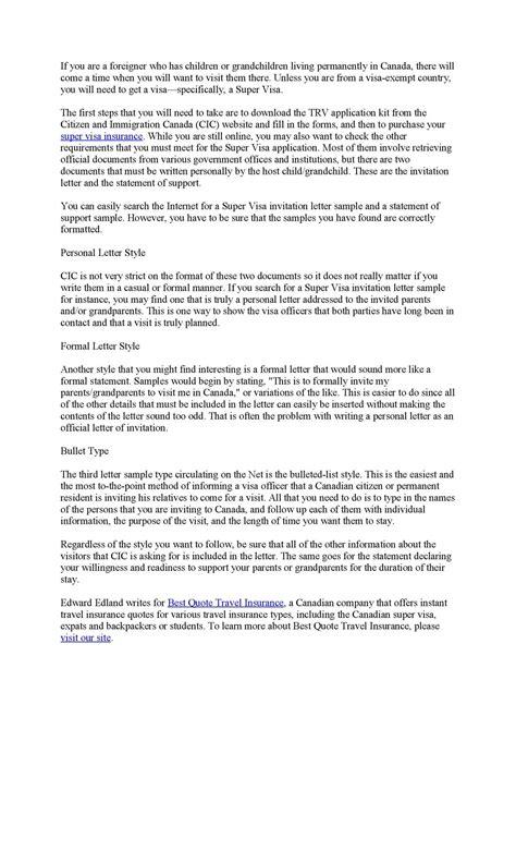 resume for canada visa 28 images sle cover letter for