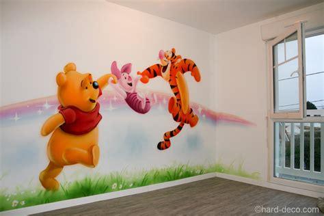 décoration winnie l ourson chambre de bébé décor mural de salle de jeux sur le thème de winnie l 39 ourson