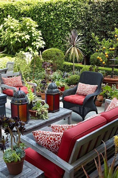 Outdoor Living Room Furniture For Your Patio by House With Vibrant Colors And Patterns Backyards