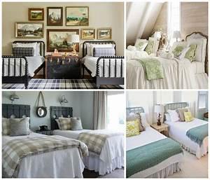 Lit Jumeaux Adulte : chambre coucher adulte avec deux lits en 23 exemples ~ Teatrodelosmanantiales.com Idées de Décoration