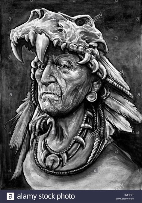 Indian Chief Image by American Indian Chief Stock Photos