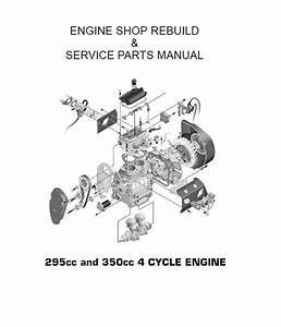 Ez - Go Engine Repair Rebuild Manual 295cc And 350cc 1992