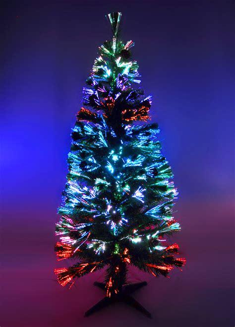 künstlicher tannenbaum mit beleuchtung k 252 nstlicher weihnachtsbaum 150cm led glasfaser 5 farben
