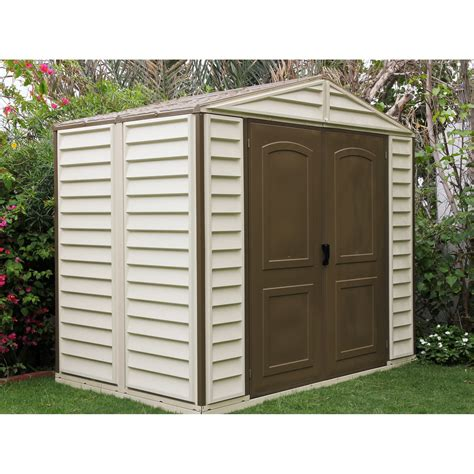 duramax woodside vinyl shed 8 x 6 ft storage sheds at