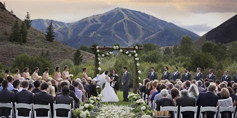 Trail Creek Pavillion At Sun Valley Resort Weddings