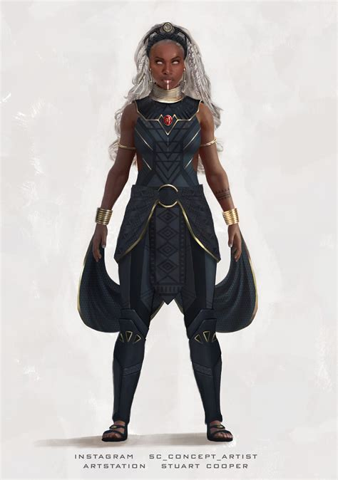 A trusted and wise leader of the team, with the ability to control and manipulate weather. Storm X-Men Character concept by Stuart Cooper : xmen