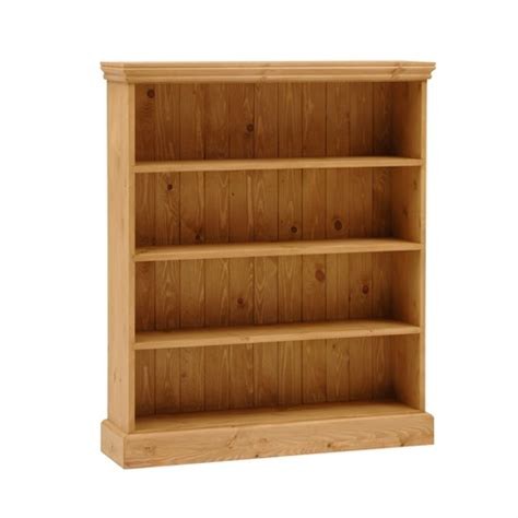 2 Ft Wide Bookcase by Dorchester Pine Wide 4ft Bookcase 4 Shelves M259