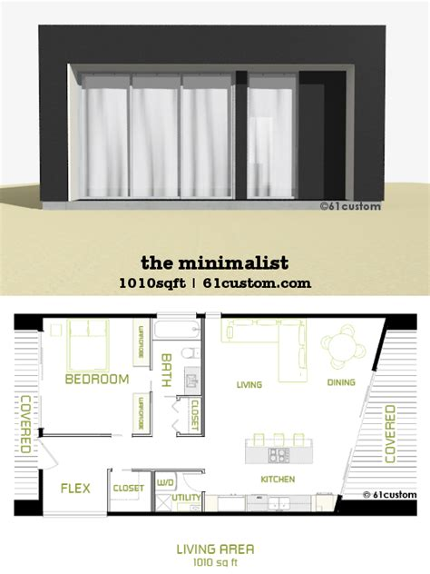 one modern house plans the minimalist small modern house plan 61custom
