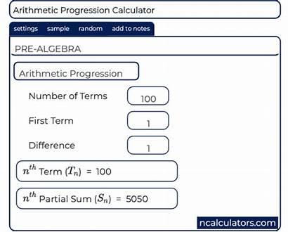 Calculator Arithmetic Sequence Progression Term Nth Geometric