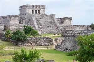 Ancient Mayan Ruins Tulum Mexico